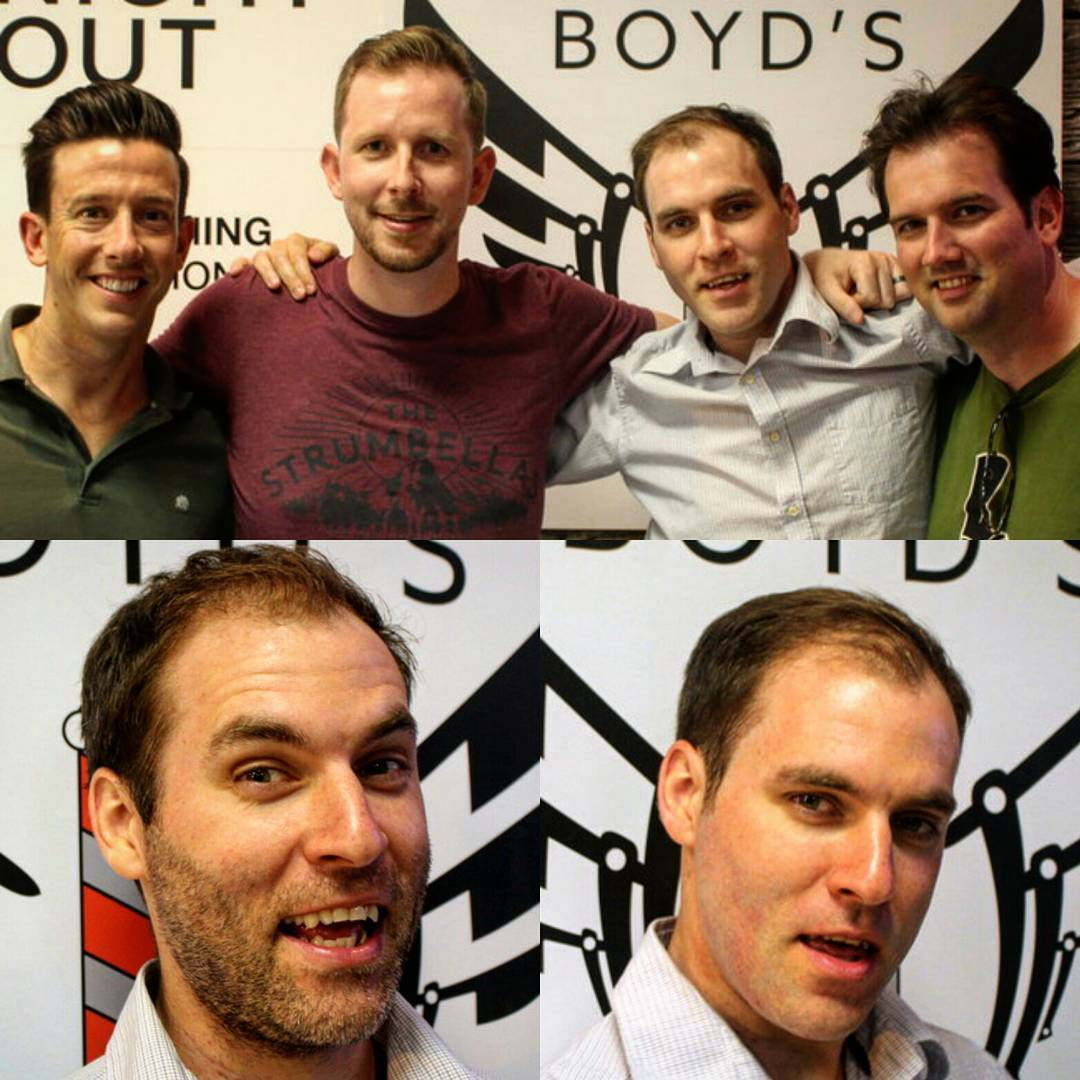 Before and after the #bachelorparty #shave if you want to have a private  party